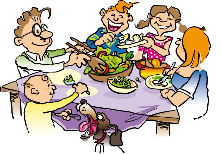 Free Thanksgiving Family Dinner Clip Art with No Background - ClipartKey