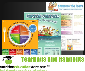 Basic Nutrition Education Tearpads and Handouts