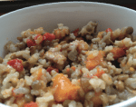 Turkey stuffing with poultry broth