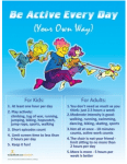 Be Active Every Day Poster