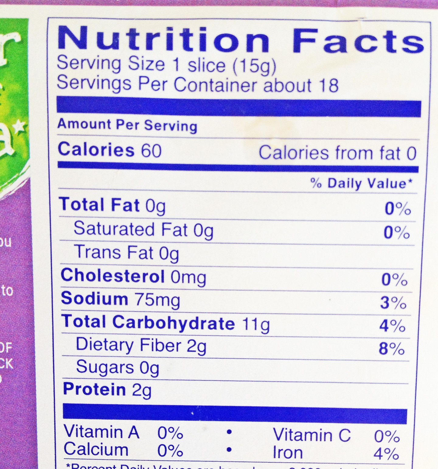 wasa cracker nutrition facts panel – food and health communications