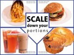 Scale Down Your Portions Poster