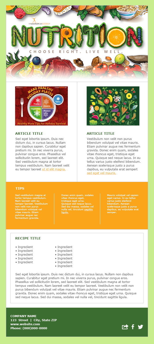 health and wellness newsletter template - food and health communications how to write the best