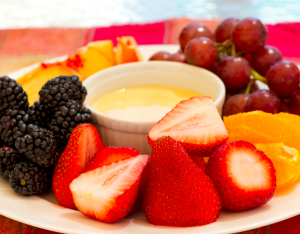 Fruit with Peach Dip