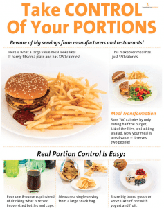 Take Control of Your Portions Poster
