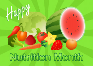 Nutrition Month Theme Card