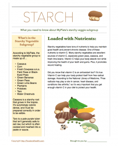Starchy Vegetables Free Handout