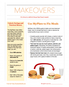 MyPlate Makeover Free Handout