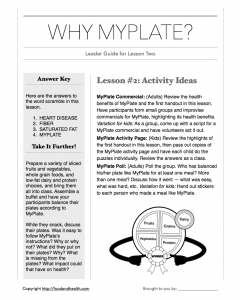MyPlate Book: Chapter 2