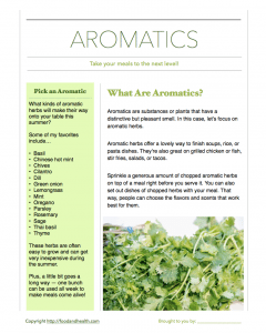 Aromatic Herbs Handout