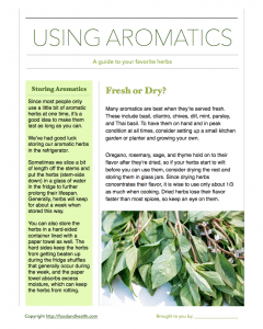 Using Aromatics: A Guide