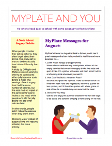 Free MyPlate Handout