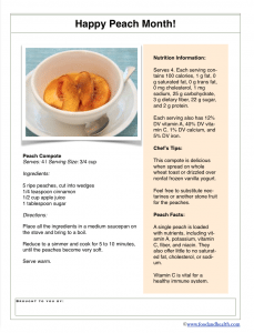 Peach Compote Recipe