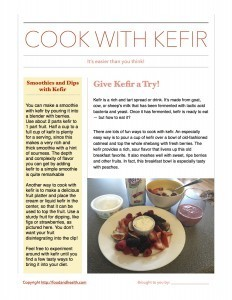 Cooking with Kefir