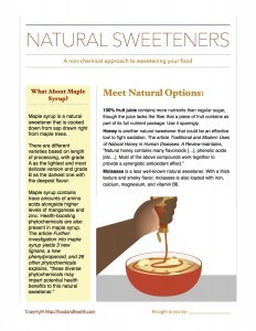 Natural Sweetener Handout