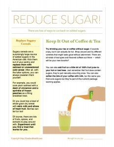 Sugar Reduction Handout Members