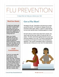 3 Steps for Flu Prevention