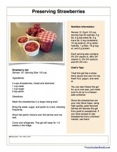 Strawberry Gel Recipe Handout