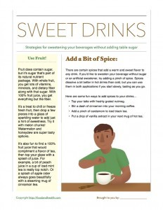 Sweetening Drinks: Handout