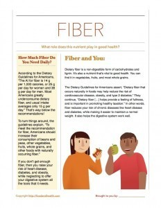 Dietary Guidelines and Fiber