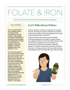 Dietary Guidelines Folate Iron