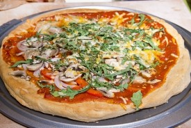 Pizza with White Whole Wheat Crust