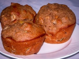 Apple Muffins with White Whole Wheat Flour