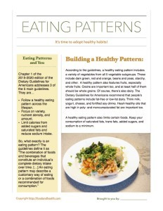 Healthy Eating Patterns Handout