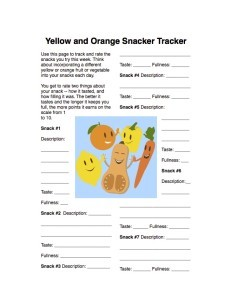 Fruit Vegetable Challenge Tracking