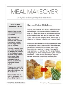 MyPlate Meal Makeover