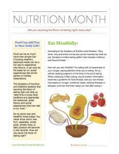 National Nutrition Month Catalog