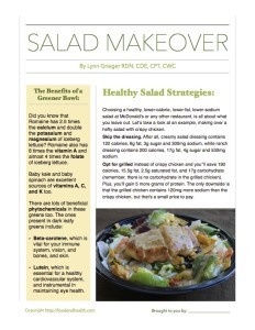 Salad Nutrients and Fast Food