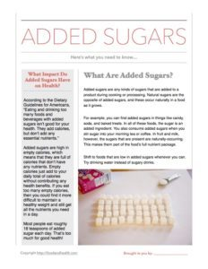 Added Sugars Refresher