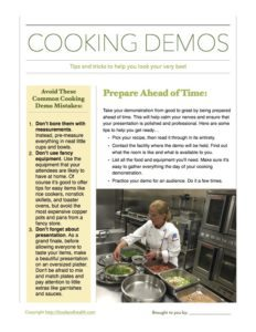 Cooking Demo Tips