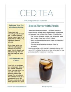 Iced Tea Month