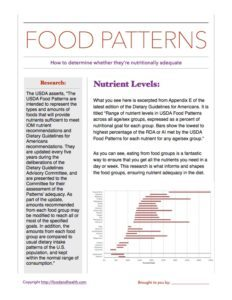 Nutrient Adequacy Handout