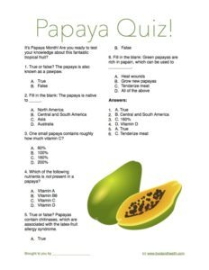 Papaya Quiz Handout