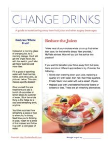 Juice Reduction Handout