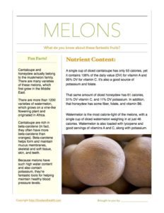 Melon Fact Sheet