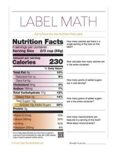 FoodLabelMath