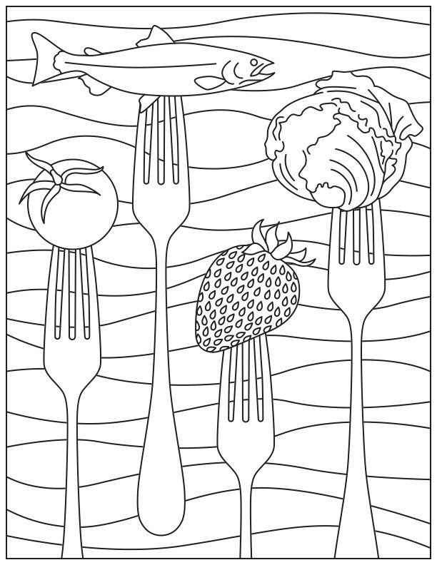 - Printable Coloring Page For National Nutrition Month - Food And Health  Communications