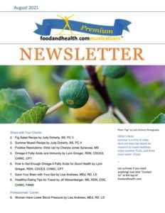 August 2021 Nutrition Newsletter Cover
